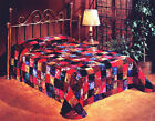 Patchwork Designer Velvet Bedspread -Quilted- all sizes