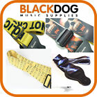 Quality guitar strap eye catching design leather ends
