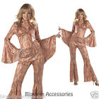 C200 Discolicious Disco Diva 70's Retro Fancy Dress Costume S M L XL