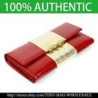 [OMNIA]Crystal Korea Ladies Checkbook Genuine Leather Purse Trifold Wallet  303L image