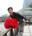 New large real long lamb fur/mongolian fur bag handbag on sale(multi colors)