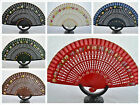 SPANISH FLAMENCO  HAND DECORATED WOODEN HAND FAN