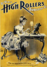 B27 Vintage High Rollers Burlesque Theatre Show Poster A1 A2 A3