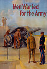 W29 Vintage WWI US Army Men Wanted Recruitment Enlist War Poster WW1 A1 A2 A3