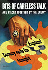 2W68 WWII Careless Talk Pieced Together by The Enemy War Poster WW2 A2 A3