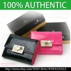 [OMNIA]Crystal Ladies Wallet Genuine Leather Trifold Purse Coins Butterfly KR378 image