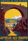 TT24 Vintage Amelie Les Bains Pyrenees French France Travel Poster Print A3 A2
