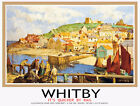 TU3 Vintage Whitby Yorkshire LNER Railway Travel Poster Print A3/A2