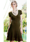 EcoSkin Clematis Organic Cotton Made in USA eco Sweater Dress Chocolate Brown S