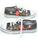 Jenny Krauss Hand Embroidered Fair Trade Low Top Sneakers Shoes 5 6 7 8 9 10