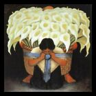 DIEGO RIVERA LILY CARRIER LILLIES Canvas Art Print