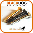 Guitar screws in chrome black or gold 3.5mm x 25mm csk bridge tremolo fixing