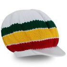 Roots Rasta Reggae One Love Jamaica Marley Hat Cap Crown Dreadlocks Negril S/M