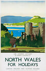 TU57 Vintage North Wales Conway LMS Railway Travel Poster Print A2/A3