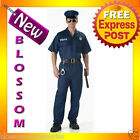 C307 Mens Policeman Police Officer Cop Uniform Halloween Fancy Dress Up Costume