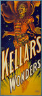 "M16 Huge 17""x38"" Vintage Magic Kellar Magician Illusionist Poster Re-Print"