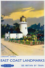 TU89 Vintage Lowestoft Suffolk British Railways Travel Poster A2 A3