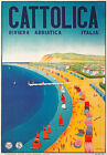TV31 Vintage 1930's Italian Italy Cattolica Travel Poster Re-Print A1 A2 A3