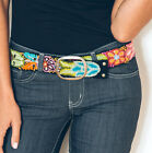 Ash & Rose Jenny Krauss Floral Wool Embroidered Belt S M L Black artisan made