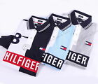 NEW TOMMY HILFIGER MEN'S RUGBY LOGO POLO SHIRT LONG SLEEVE