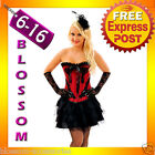 CC24 Ladies Moulin Rouge Burlesque Vegas Showgirl 20s Fancy Dress Costume Corset