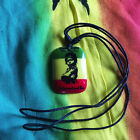 Black Cord Necklace Reggae Vibes Dog Tag Selassie Rasta Necklace Pendant 1SZ FIT