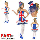 Mini Top Hat & Union Jack Dress Rule Britannia TuTu Jubilee Olympics Fancy Dress