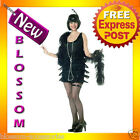 C20 Fashion Flapper Black Chicago 20s Halloween Fancy Dress Adult Costume