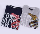 NWT TOMMY HILFIGER MEN CLASSIC LOGO CREW-NECK TEE T-SHIRT LONG SLEEVE -FREE SHIP