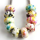 HOT SALE 50pcs Acrylic European Beads Fit Charm Bracelet Color Choice FREE SHIP