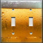 Metal Light Switch Plate Cover - Man Cave Decor Ice Cold Beer Decor Bar Decor