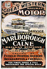 TR59 Vintage Marlborough & Calne Great Western Railway Travel Poster A4