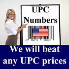 1,5,10,25,50,100,250,1,000 UPC Numbers  Barcodes for Amazon, Ebay  Walmart