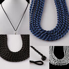 "Handmade Braided Twist Cord String Silk Macrame Necklace Rope Findings 16.5""L"