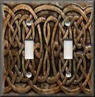Light Switch Plate Cover - Home Decor - Celtic Knot - Brown
