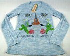Womens Western Wrangler Cowgirl Gypsy Shirt Blouse Bling long Sleeve Any Sz S M