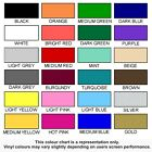 SELF ADHESIVE VINYL COLOURS SAMPLES - SIZE A4 (297mm x 210mm)