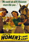 WB9 Vintage WW2 Join Womens Land Army British WWII War Poster Re-Print A4