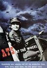 WB16 Vintage WW2 ATS At The Wheel British WWII War Poster Re-Print A4