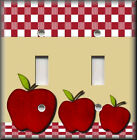 Light Switch Plate Cover - Red Apples - Kitchen Decor - Apple Home Decor
