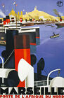 TW67 Vintage 1930 Marseille French Travel Poster Broders Re-Print A1/A2/A3