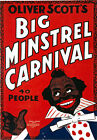 TH4 Vintage Big Minstrels Carnival Theatre Poster Re-Print A1 A2 A3