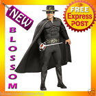 C601 Mens Deluxe Zorro Muscle Chest Halloween Hero Fancy Dress Adult Costume