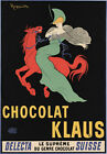 AD19 Vintage 1903 Chocolat Klaus Swiss Chocolate Advertisment Poster A1 A2 A3