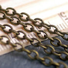 20ft Antique Bronze Plated Cable Chain Link Bronze Chain 3.8x2.8mm c214 PICK