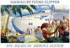 TT29 Vintage Hawaii By Clipper Travel Tourism Poster Re-Print A4
