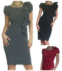 Ladies Dress Office Work Womens Bodycon Black Pencil Smart Size 8 10 12 14 16 18