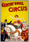 TZ70 Vintage Gentry Bros Horse Rider Clown Circus Carnival Poster Re-Print A4