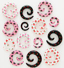 1 Pair Acrylic Rose Blossom Spiral Ear Expanders Stretcher Plugs Tunnels Gauges