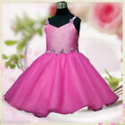 H875 Girl Pink Christmas Party Dress Flower Girls Dresses SIZE 2-3-4-5-6-7-8-10T